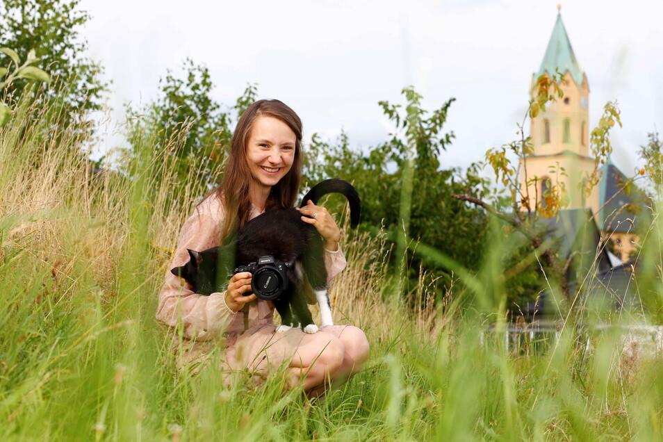 Pauline Kerber aus Lichtenberg hat ihr Hobby zum Beruf gemacht und ist nun als Familien- und Hochzeitsfotografin tätig. Fast alle ihre Aufnahmen entstehen draußen.