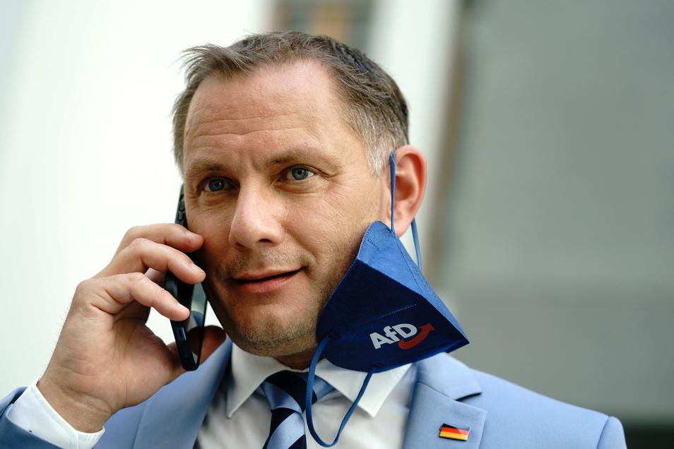 """Tino Chrupalla wurde in Russland als einer der """"herausragenden Politiker"""" Deutschlands empfangen."""