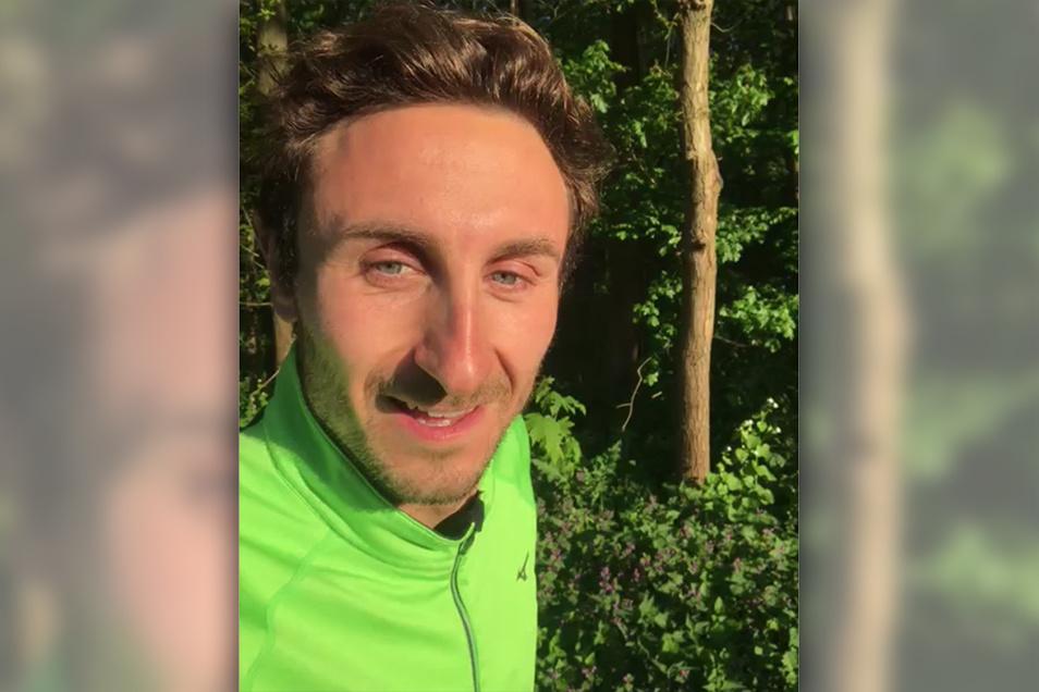Rief in einer Videobotschaft zur Teilnahme am 1. Virtuellen Landkreislauf auf: Paralympics-Sieger Martin Schulz vom SC DHfK Leipzig.