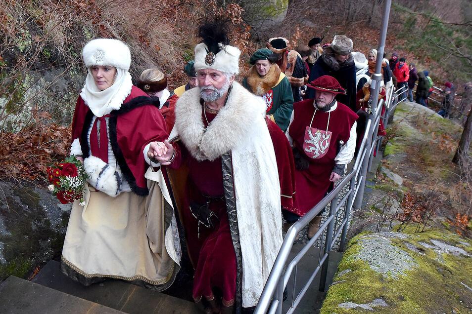 Kaiser Karl der IV. sagt seinen Besuch zu Weihnachten in Oybin ab.