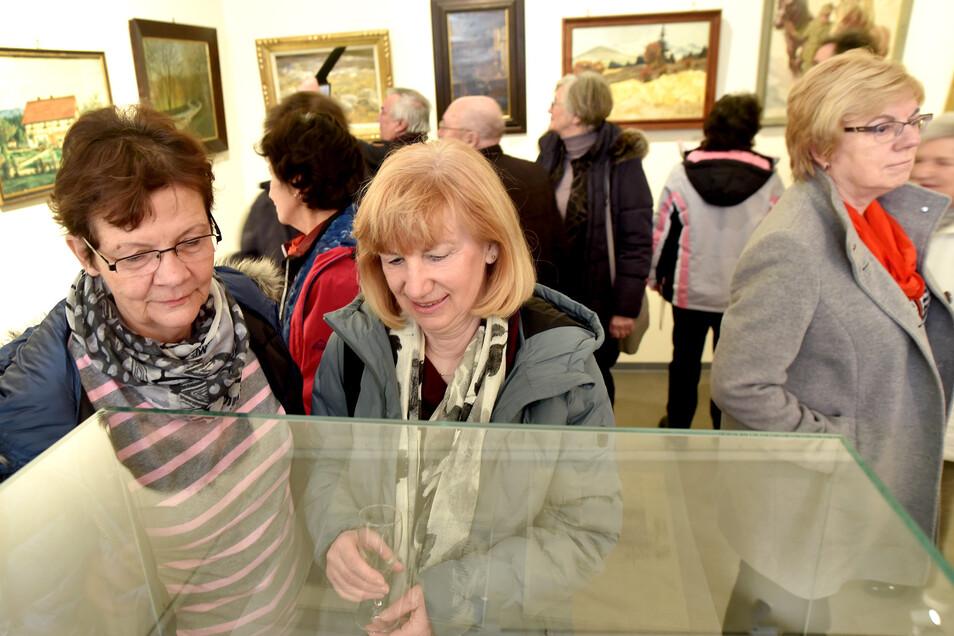 Aquarelle und Ölbilder vom Heimatmaler Wilhelm Fröhlich sind im Museum ausgestellt.