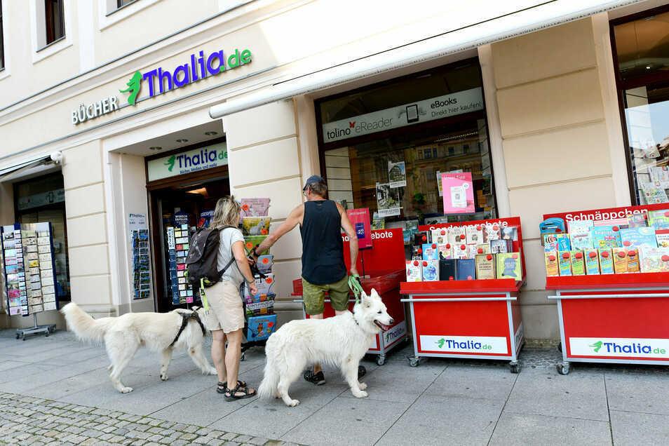 In der Thalia-Buchhandlung am Zittauer Marktplatz hat es am Montag einen Kabelbrand gegeben.