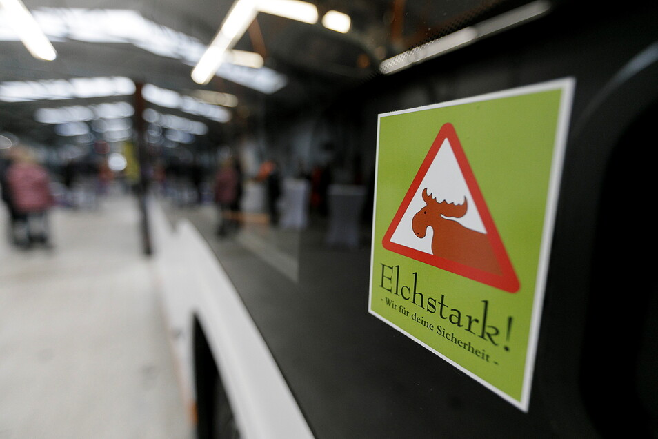 """Auch die Görlitzer Verkehrsbetriebe beteiligen sich an der Aktion """"Elchstark""""."""
