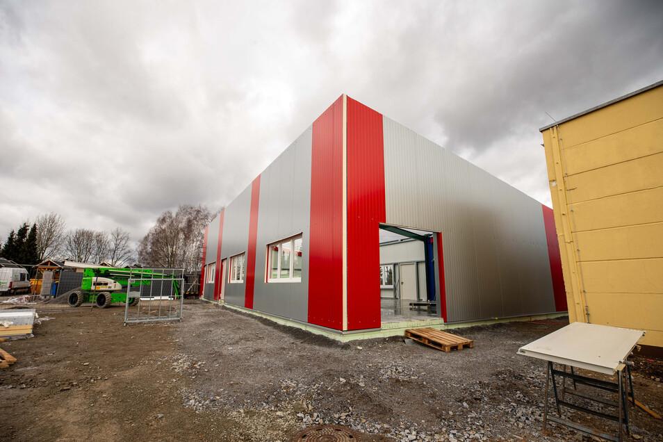 Neue Halle am Sebnitzer Kiez: 200 Quadratmeter mehr Platz für Aktivitäten der Gäste.