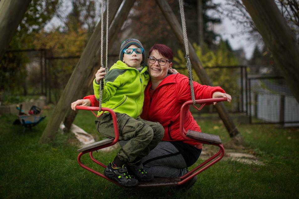 Matteo und seine Mutter Anne Baldermann.