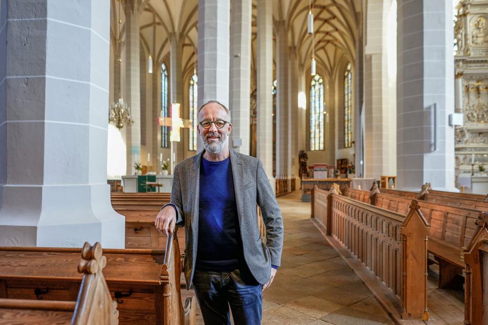 Pfarrer Christian Tiede ist der Leiter des neuen Kirchspiels Bautzen. Dieses setzt sich aus den bisher eigenständigen Kirchgemeinden St. Petri, St. Michael und Gesundbrunnen zusammen.