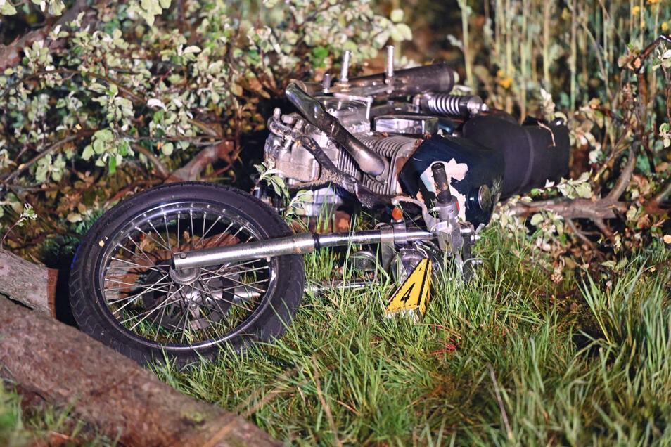 Ein Motorradfahrer verlor zwischen Maltitz und Nostitz die Kontrolle über seine Maschine.
