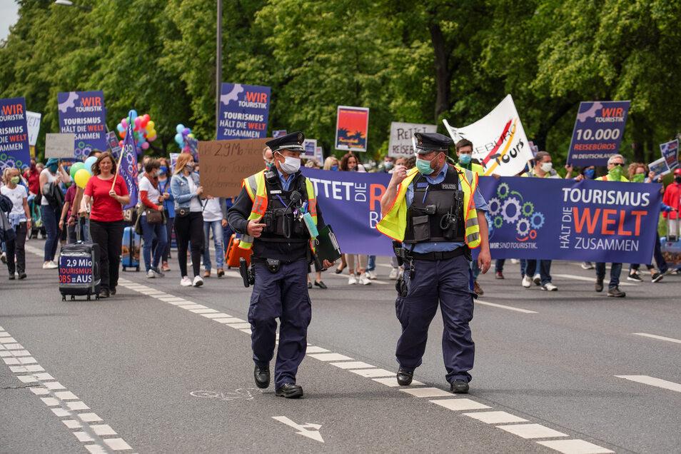 Durch die Demonstration kam es zu Verkehrsbehinderungen in der Innenstadt.