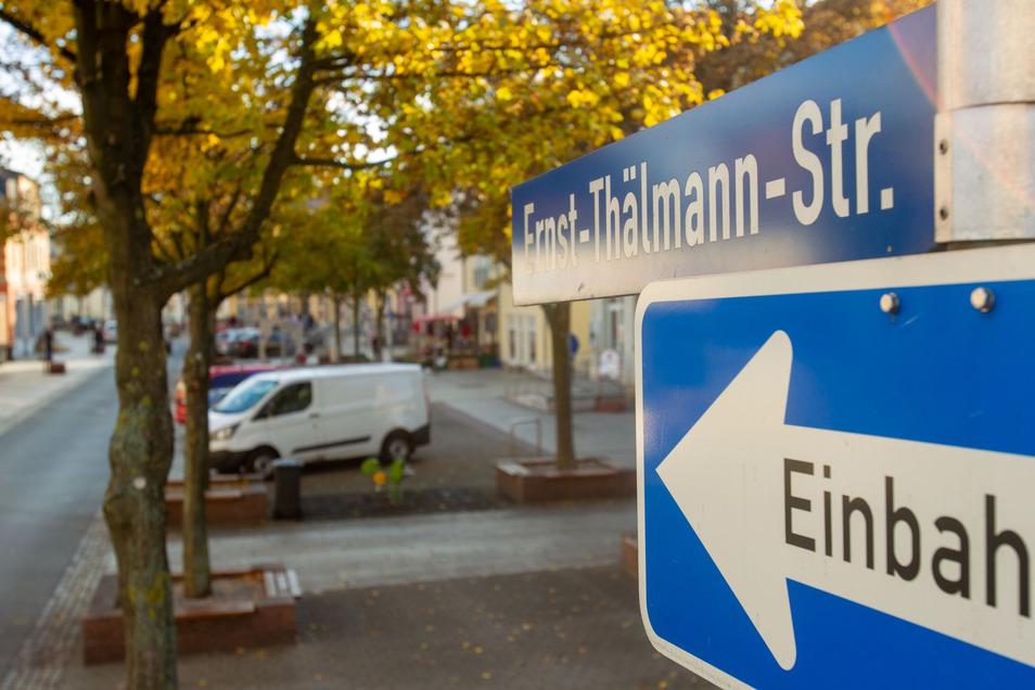Ganz gesperrt statt nur Einbahnstraße: Die Thälmannstraße für ein paar Stunden in den kommenden Tagen.