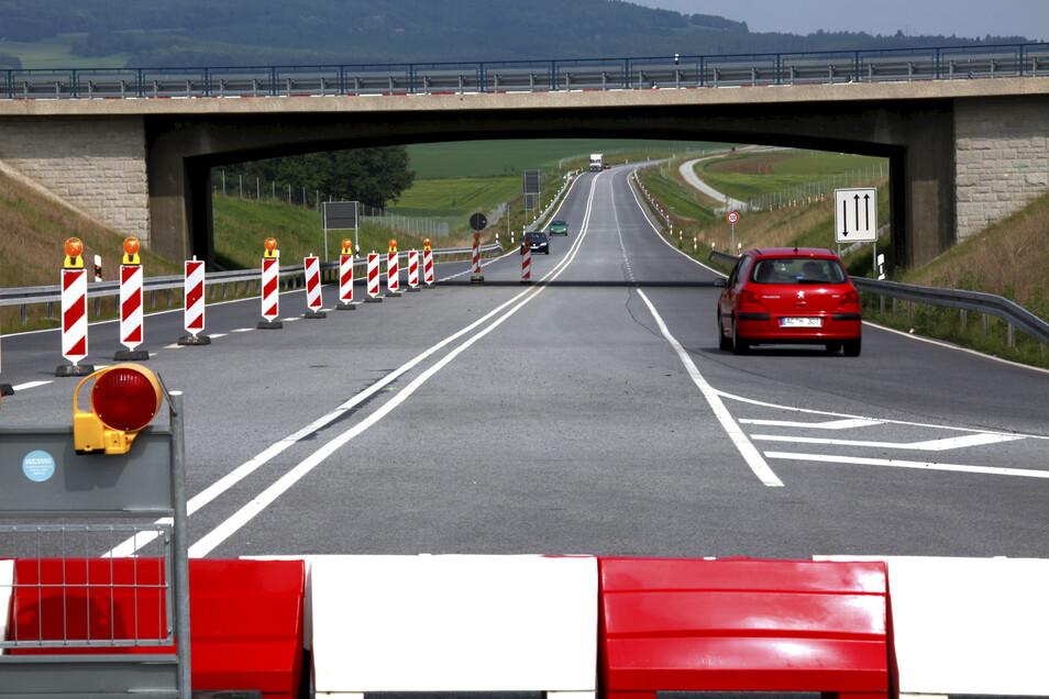 Die unfertige B178 zwischen Großhennersdorf und Oderwitz.