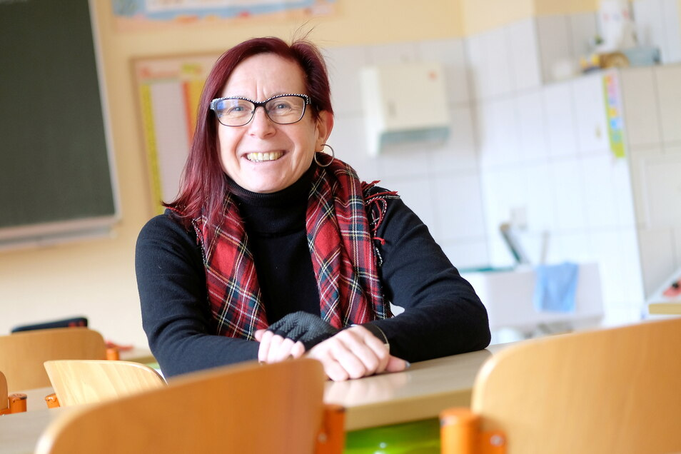 Wegen eines Coronafalles musste Manuela Helleken, die Leiterin der Krögiser Grundschule, die Sporthalleneröffnung am Freitag absagen.