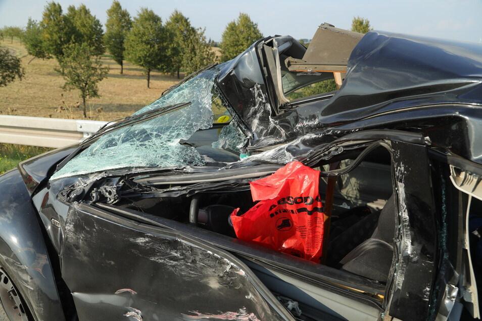 Der Unfallwagen: ein VW New Beetle.