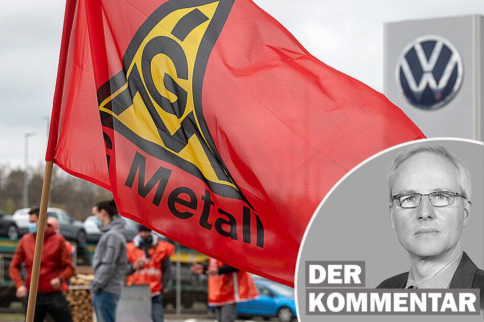 Volkswagen kündigt West-Arbeitszeiten für seine sächsischen Fabriken an. Für den Flächentarifvertrag ist das gar kein Fortschritt, kommentiert SZ-Wirtschaftsredakteur Georg Moeritz.