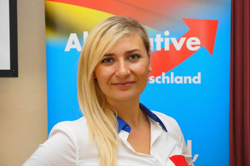 Carolin Bachmann ist die Favoritin der AfD Mittelsachsen für den Bundestag.