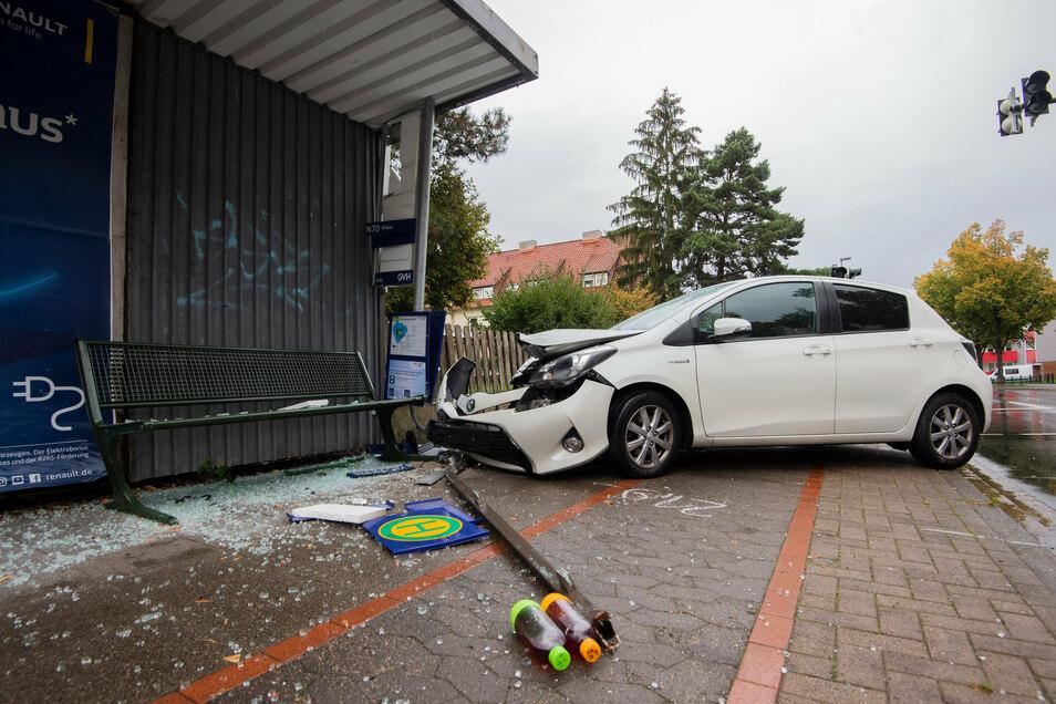 Blick auf die Unfallstelle in Hannover.