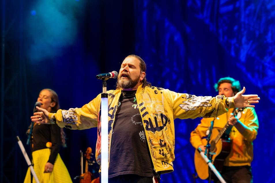 Musiker und Entertainer Rea Garvey war am Freitag in Dresden zu Gast.
