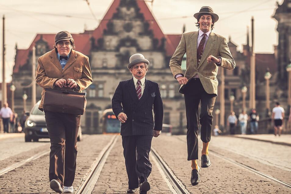 Kjeld (Michael Kuhn), Egon Olsen(Volker Zack) und Benny (Phillip Richter) machen nicht nur Straßenbahnlinien sondern am Samstag auch das Stadtfest unsicher.
