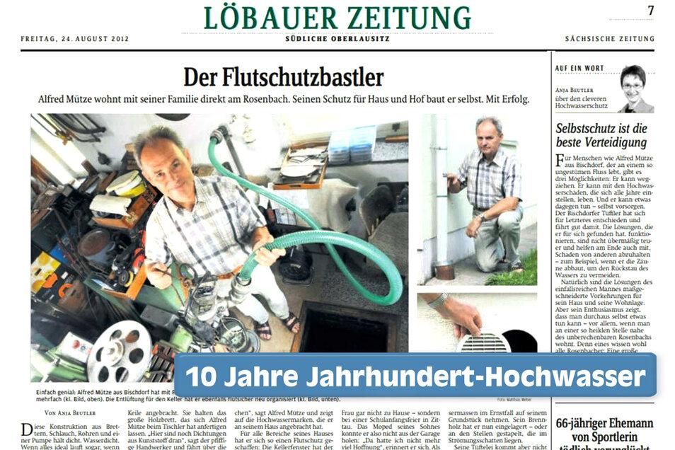 So berichtete die Sächsische Zeitung im August 2012 über den Rosenbacher.