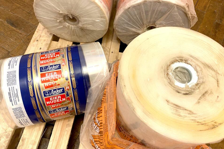Auch originales Verpackungsmaterial fand sich noch in der Nudelfabrik.