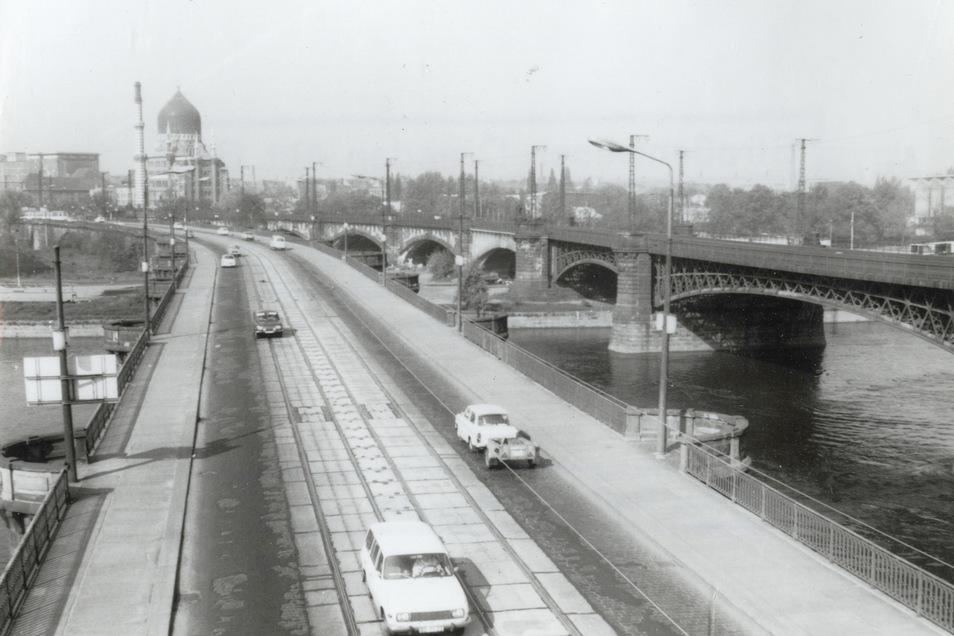Ein Blick auf die Marienbrücke 1982. Der Zustand wurde zu dieser Zeit von Jahr zu Jahr schlechter.