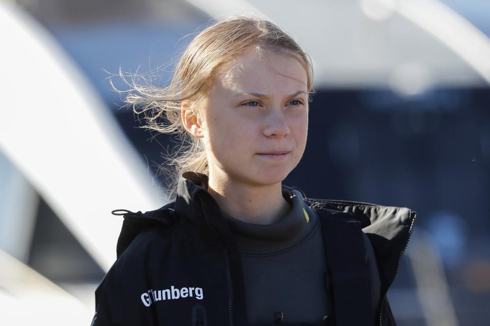 Greta Thunberg traf am Dienstagnachmittag in Lissabon ein.