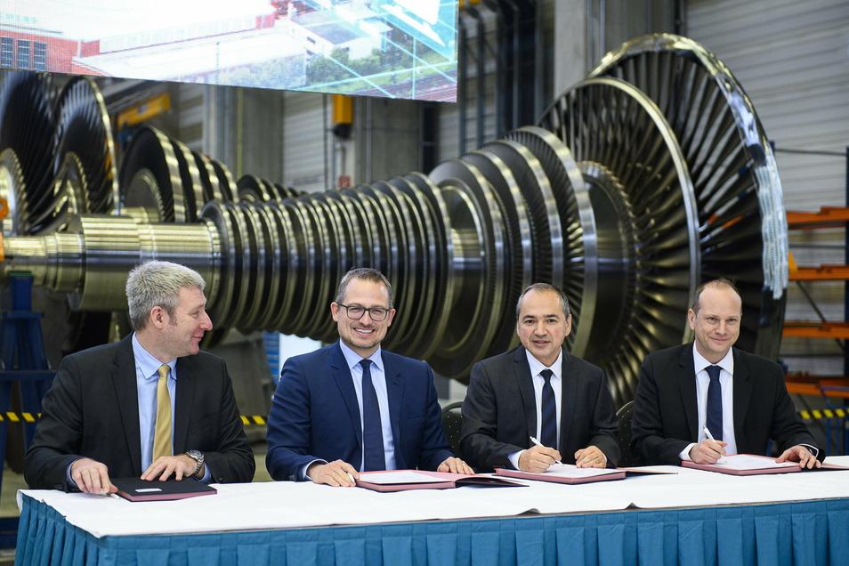 Wird der Zukunftspakt für das Görlitzer Siemens-Werk, der hier unterzeichnet wurde, jetzt mit Leben gefüllt?