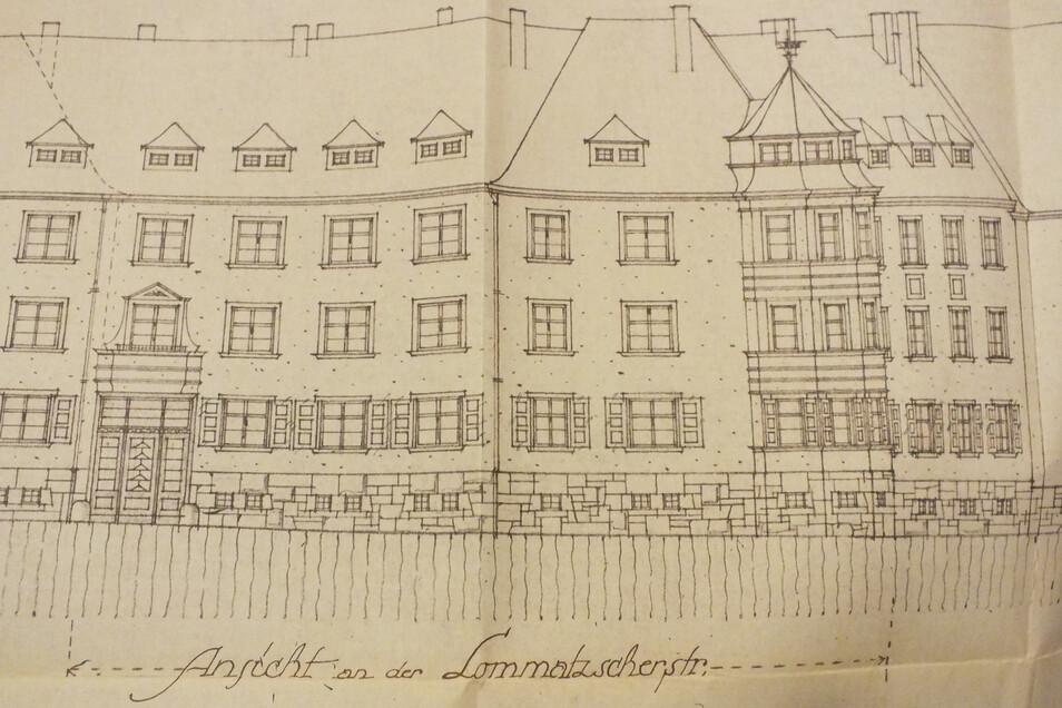 Im Stadtarchiv existieren noch Zeichnungen und Pläne der Wohnhäuser.