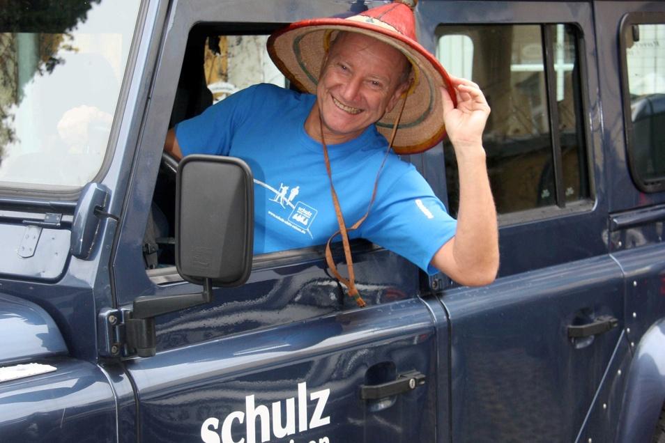 Veranstalter Frank Schulz sitzt auch gern selbst am Steuer.