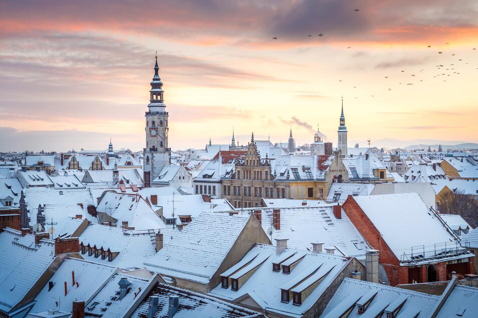 Kalenderblatt: Görlitz im Winter.