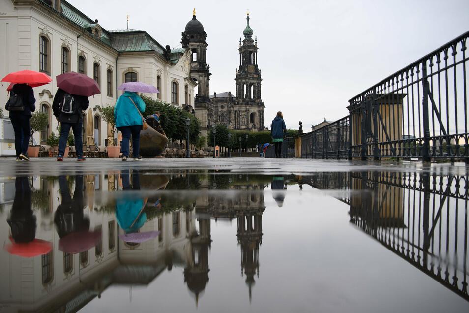 Vor allem am Sonnabend wird es sehr nass in Dresden.