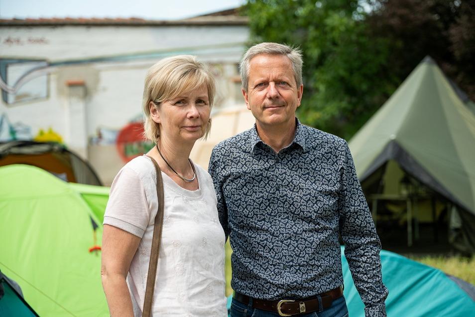 Ines und Uwe Tix rüsteten sich für ihren Ostsee-Urlaub aus.