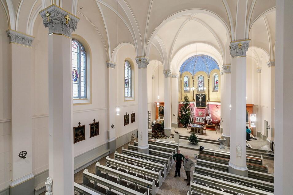 Die Heilig-Kreuz-Kirche an der Struvestraße: Nicht hier, aber nebenan im Gemeinderaum wird am Sonntag gegen Corona geimpft.