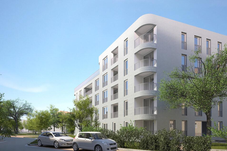So sollen die Neubauten aussehen, die Großvermieter Vonovia in den nächsten zwei Jahren in der Pirnaischen Vorstadt errichten lässt.