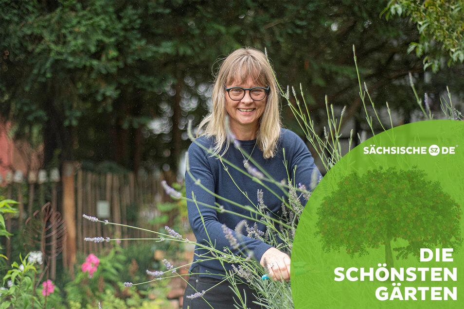 Heike Hilsberg aus dem Kamenzer Ortsteil Biehla ist Gärtnerin mit Leib und Seele. In ihrem 3.000 Quadratmeter großem Grundstück gibt es immer zu tun.