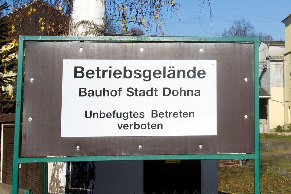 Das Schild war nach dem Kauf des Kornhaus-Areals schnell aufgestellt. Die Realisierung der Bauhofpläne dauert.