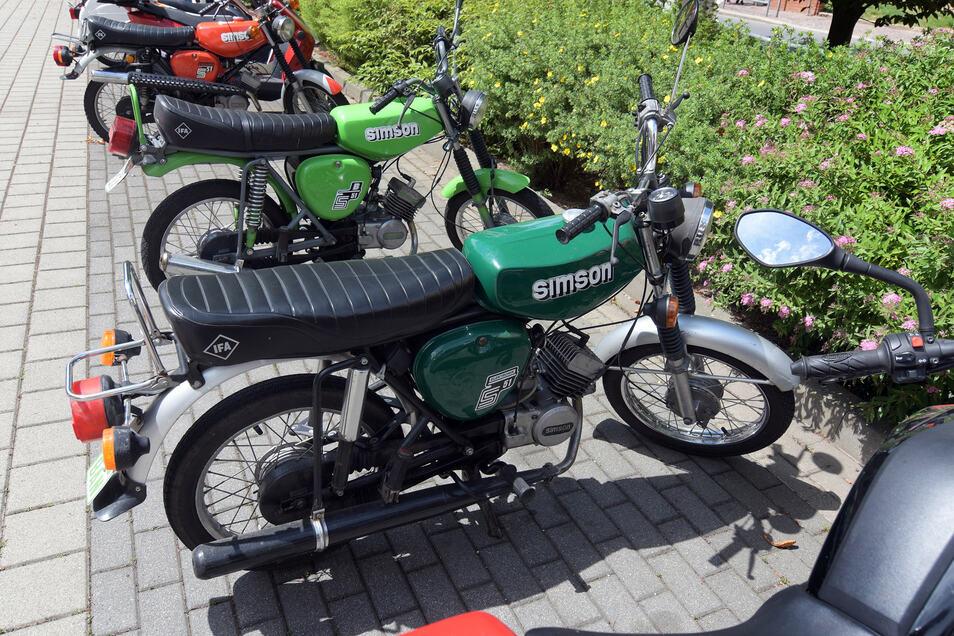 Beliebt – leider auch bei Dieben: Simson-Mopeds der Baureihe S50.