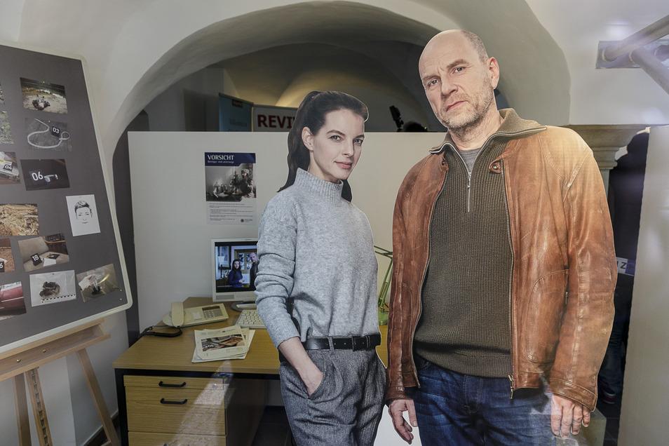Sind jetzt immer da: die Kommissare Viola Delbrück und Butsch Schulz. Acht Teile der Krimiserie Wolfsland wurden in Görlitz schon gedreht. Auch dieses Jahr werden Yvonne Catterfeld und Götz Schubert voraussichtlich wiederkommen.
