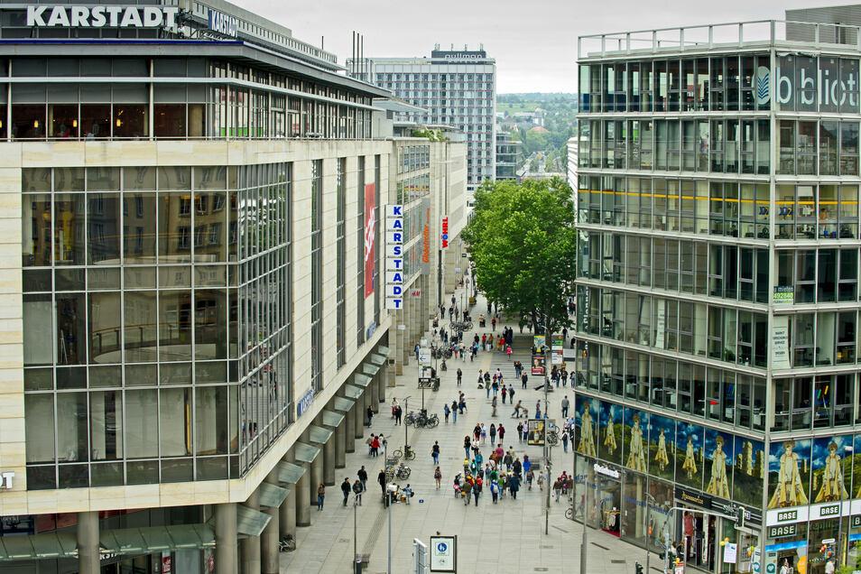 Das H&M-Geschäft an der Prager Straße schließt.