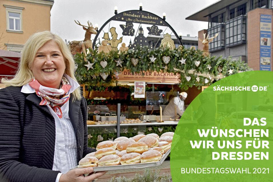 Elisabeth Kreutzkamm-Aumüller vom Dresdner Backhaus wünscht sich mehr Wertschätzung für Unternehmer.