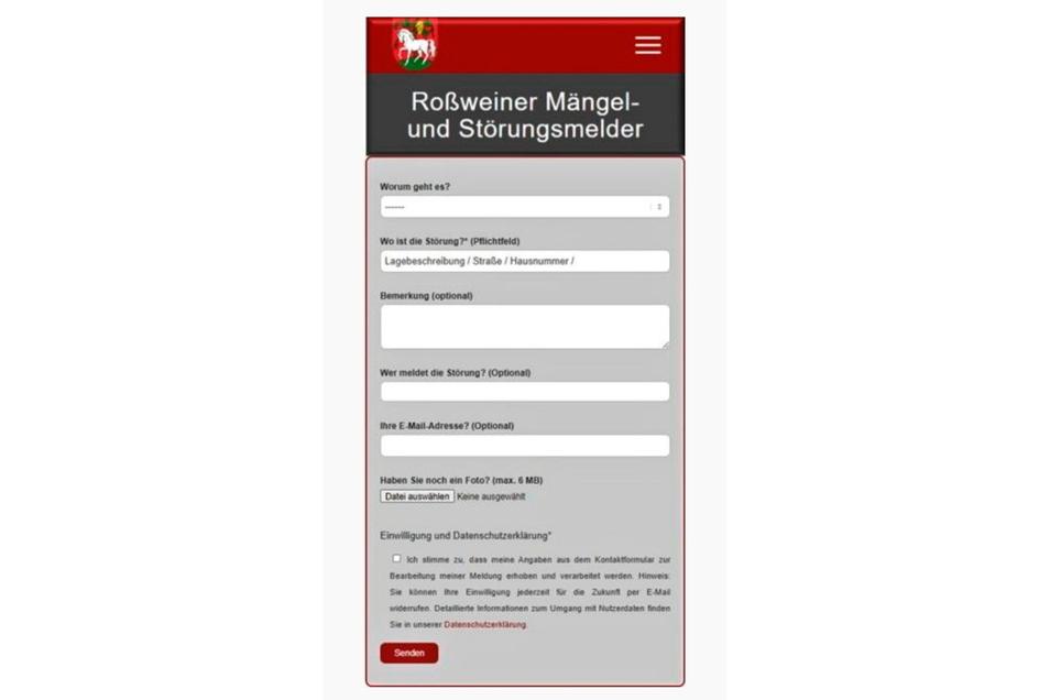Mängel und Störungen können die Roßweiner der Stadtverwaltung jetzt auch über die Homepage melden.