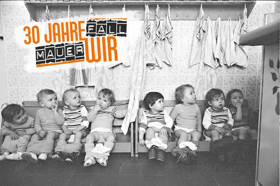 Pullern nach Zeitplan: Die Töpfchenbank gehörte zum Alltag in DDR-Kinderkrippen, so auch in dieser Cottbuser Einrichtung. Noch strenger ging es in den Dresdner Wochenkrippen zu, in denen Kinder fünf Tage die Woche rund um die Uhr betreut wurden.