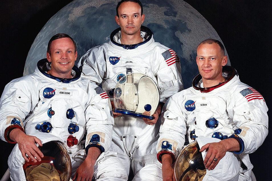 Die Besatzung von «Apollo 11», die Astronauten Neil Armstrong (l-r), Michael Collins und Edwin Aldrin.