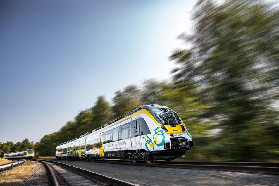 Der Talent 3 Batteriezug der Firma Bombardier soll die Dieseltriebwagen vom Typ Desiro ablösen. Zurzeit befindet sich der neue Fahrzeugtyp noch in der Test- und Zulassungsphase.