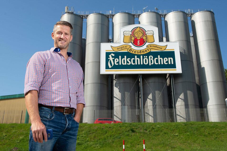 Frank Haase von Feldschlößchen hat keinen Zweifel daran, dass in Dresden auch im April zünftig gepichelt werden kann.