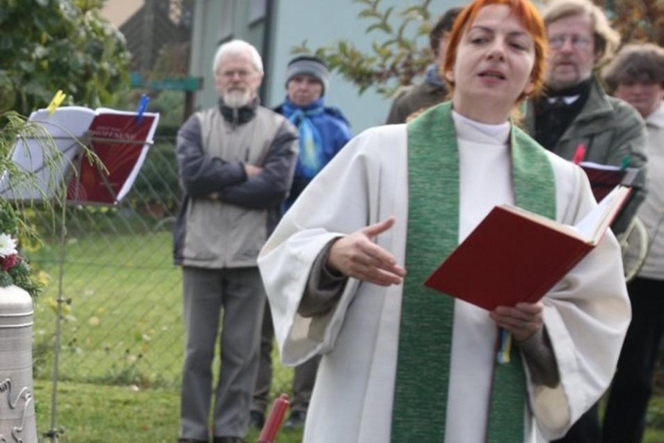 Die Pfarrerin Dorothee Fleischhack wechselt von Dohna nach Dresden.