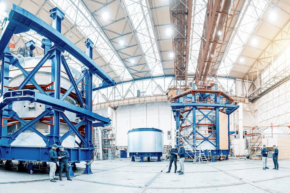 Große Prüfstände: Teile der Trägerrakete für die Ariane 6 sind bei IMA Materialforschung und Anwendungstechnik in Dresden getestet worden. IMA Dresden ist künftig spanisch.