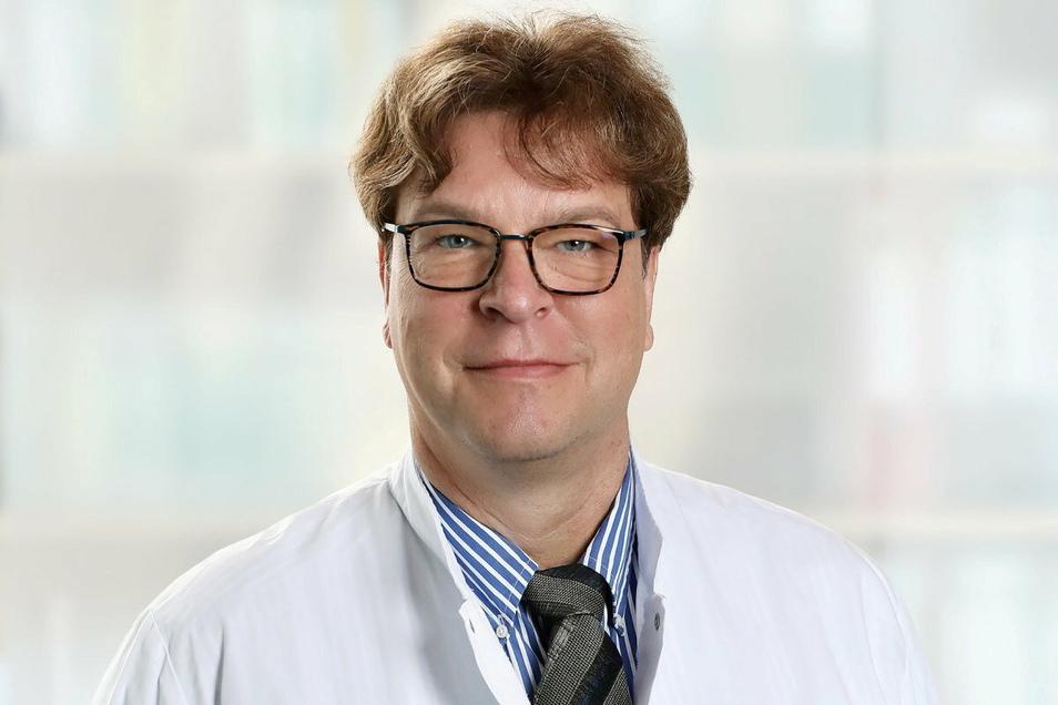 Dr. René Schwarz Ärztlicher, Direktor der Helios Klinik Leisnig, appelliert an die Patienten, zur Krebsvorsorge zu gehen.