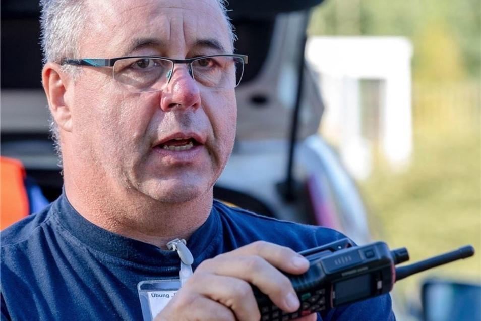 Als Kreisbrandmeister ist Karsten Neumann seit Januar 2001 hauptamtlich für den Landkreis zuständig.