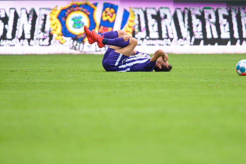 Ein Auer mit RB-Vergangenheit: Clemens Fandrich , hier im Testspiel gegen Magdeburg am vergangenen Wochenende.