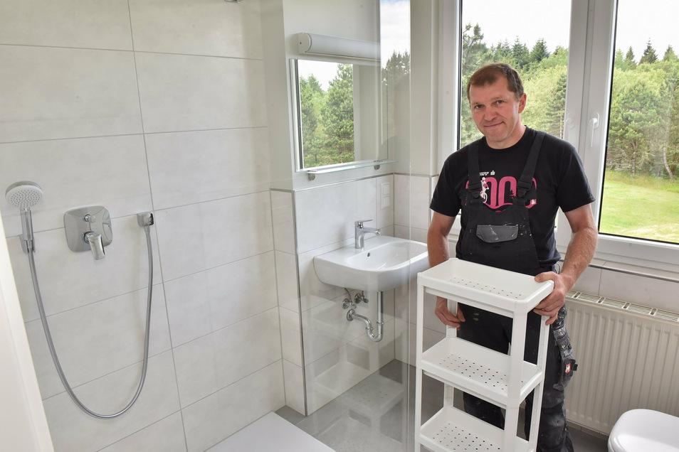 Tino Weinberg hat die Zeit des Stillstands genutzt, um mehrere Zimmer in seiner Jugendherberge in Altenberg familiengerecht umzubauen.